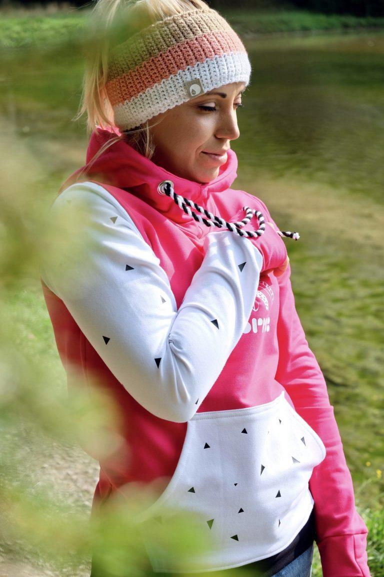 roza surfer hoodie bel koral bež trak 2